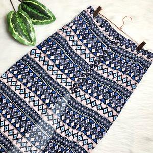 H&M Aztec Slit Maxi Skirt